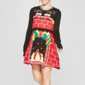 Ugly sweater Knit LIGHT UP DRESS